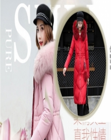 2018冬装中长款棉服女加厚棉衣过膝大毛领棉袄保暖外套潮