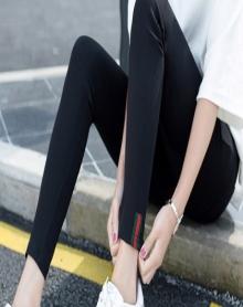 【精致版型 80-150可穿】大码打底裤女外穿女加绒加厚韩版百搭铅笔裤紧身裤女秋冬季黑色高腰长裤