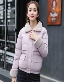 新款韩版羊羔毛羽绒棉外套短款宽松显瘦棉服ulzzang棉衣女加厚小棉袄学生上衣时尚气质迷彩棉袄外套