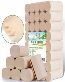 58斤40卷风韵万家天然竹浆本色纸卫生纸卷纸厕纸卷筒纸不漂白纸批发包邮