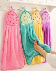 厨房擦手巾洗碗布抹布挂式吸水性好珊瑚绒加厚擦手布卫生间毛巾抹布洗碗巾包邮