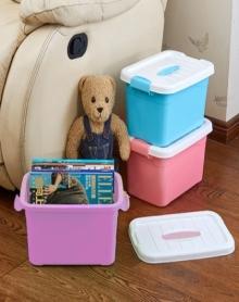 衣物收纳箱手提储物箱塑料整理箱收纳盒有盖大中小号装衣服箱子三件套
