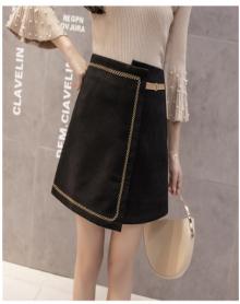 不规则半身裙女新款短裙裙子高腰a字裙包臀裙