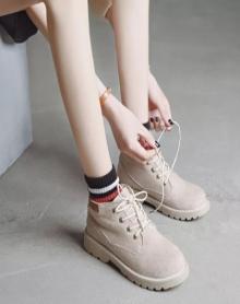 春秋冬季新款马丁靴女短靴女平底英伦风韩版百搭学生复古单靴子