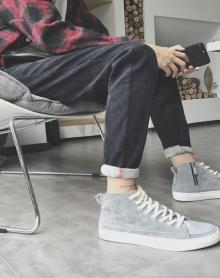 2018新款男士哈伦裤韩版束脚裤运动裤加绒加厚修身小脚休闲裤
