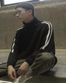 冬季新款男士套头毛衣韩版高领加厚针织衫圆领潮流毛线衣
