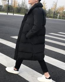 男士棉衣男中长款加厚冬季新款羽绒棉服青年韩版潮流保暖棉袄外套