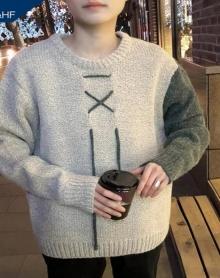 冬季毛衣男日系复古韩版学生宽松学院风港风bf加厚保暖原宿风潮