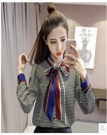 欧洲站蕾丝衬衣套裙女春装2018新款时尚气质刺绣高腰短裙时髦套装