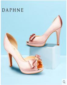 2018年春季新款甜美单鞋浅口超高跟鱼嘴细跟女鞋