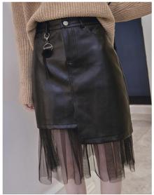 秋冬新款韩版气质百搭高腰条纹毛呢半身裙女修身显瘦a字短裙子潮