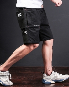 2018夏季青少年男装休闲短裤男士日系松紧裤青年五分裤