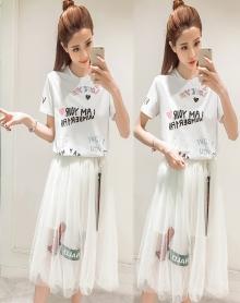 BBAOTS卡姿 时尚两件套仙女裙韩版网纱裙连衣裙 LK1DKIT1KFD025 CRYSOAL MKY 6(165/88Y)