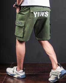 2018夏季男装休闲短裤日系男士松紧裤青年五分裤